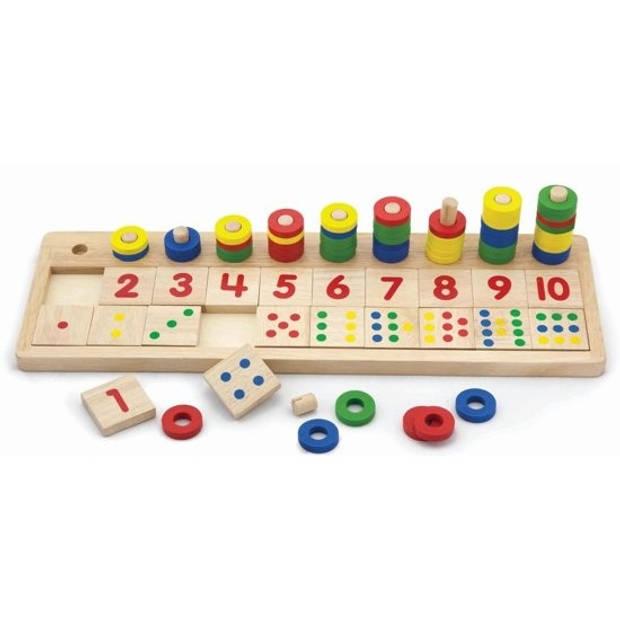 Viga Toys rekenspel Match de Getallen hout 86-delig (NL)