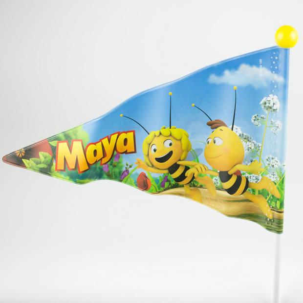 Studio 100 fietsvlag Maya de Bij junior 150 cm vinyl wit/geel