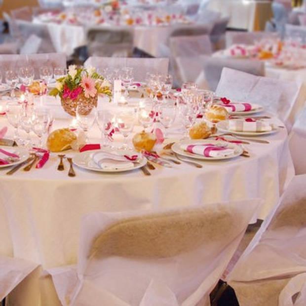Wit rond tafelkleed/tafellaken 180 cm stof - Ronde tafelkleden Opaque White - Witte tafeldecoraties - Wit thema