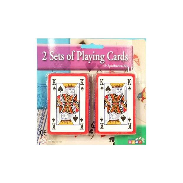 6x pakjes kaartspellen - Casino speelkaarten