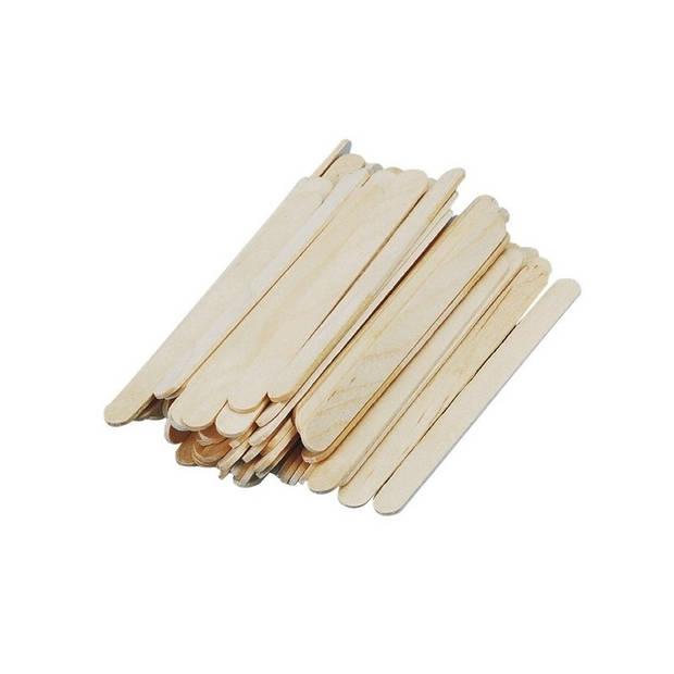 432x naturel ijsstokjes knutselhoutjes 11 x 1,1 cm - hobby knutsel houtjes artikelen
