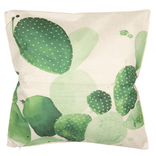 Clayre & Eef Kussenhoes 43*43 cm Meerkleurig 100% Polyester