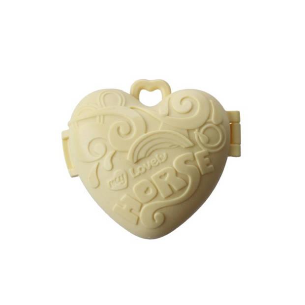 LG-Imports eenhoorn Pocket Unicorn meisjes 7,5 cm geel 2-delig