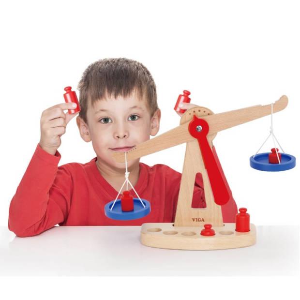 Viga Toys weegschaal junior 28 cm hout