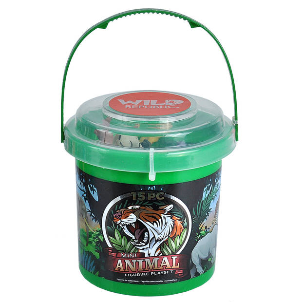 Wild Republic mini-speelset Animal junior 15-delig