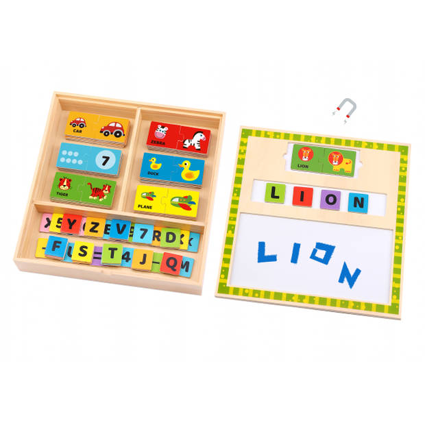 Tooky Toy puzzelbox Letters & Woorden junior 30 cm hout