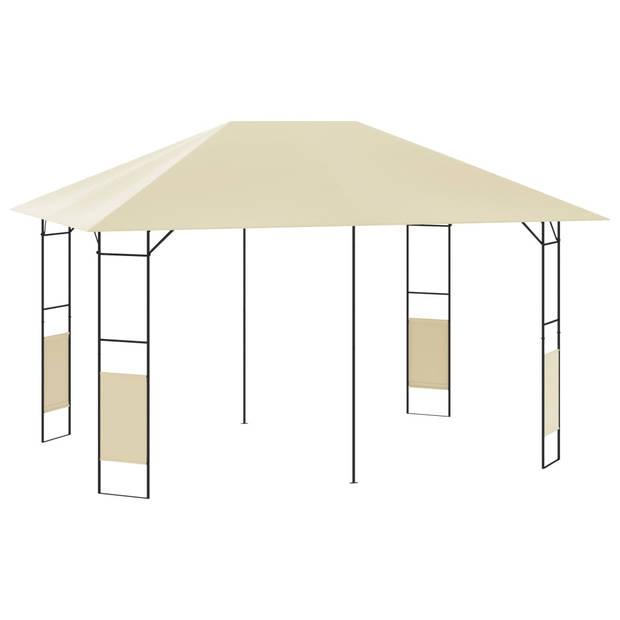 vidaXL Tuinprieel 160 g/m² 4x3 m crème