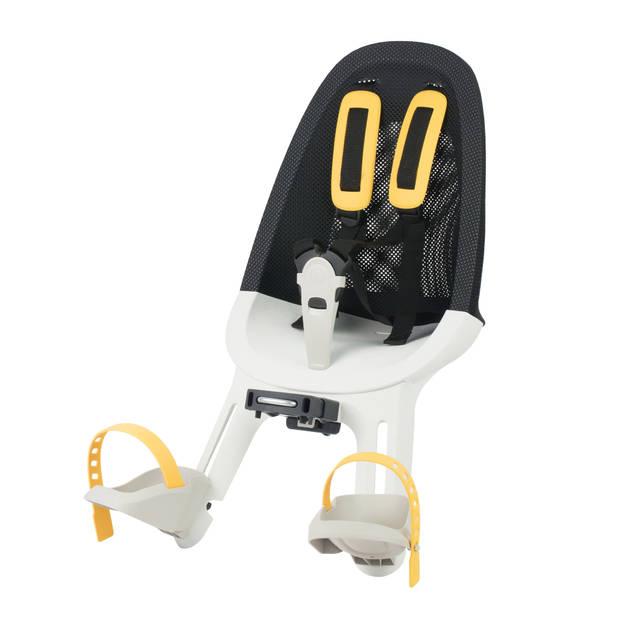 Qibbel fietszitje Air voor junior mesh zwart/wit/geel