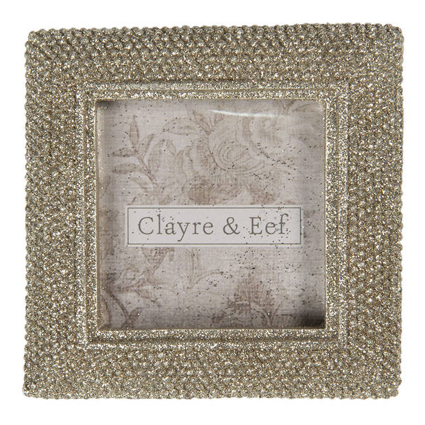 Clayre & Eef Fotolijst 9*1*9 cm / 5*5 cm Goudkleurig Ijzer