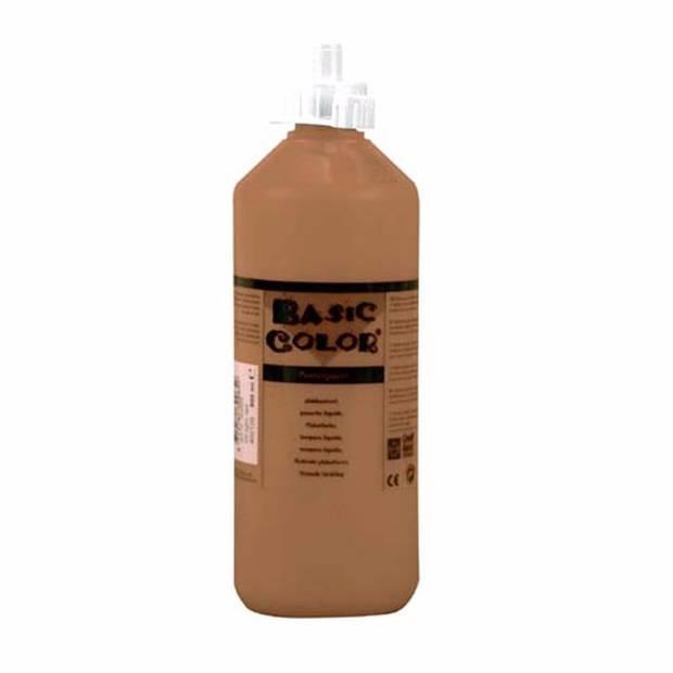 Bruine hobby knutselen kinder verf op waterbasis 1000 ml - Schilderen/verfen