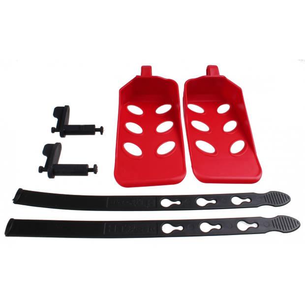 HTP voetensteunen Sanbas 18 cm rood/zwart 6-delig
