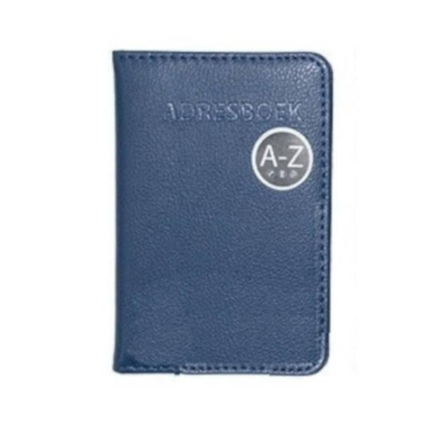 Verhaak adresboek 9 x 13 cm kunstleer blauw