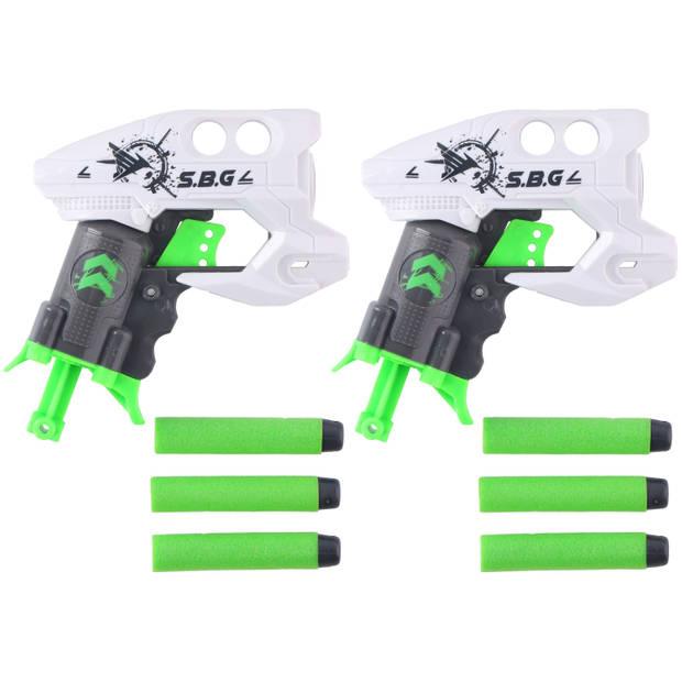 Eddy Toys Schietpistolen - 2 Stuks - met 6 Foamkogels