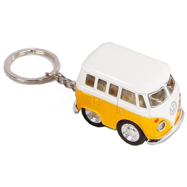 Toys Amsterdam sleutelhanger Volkswagen die-cast 5 cm wit/geel