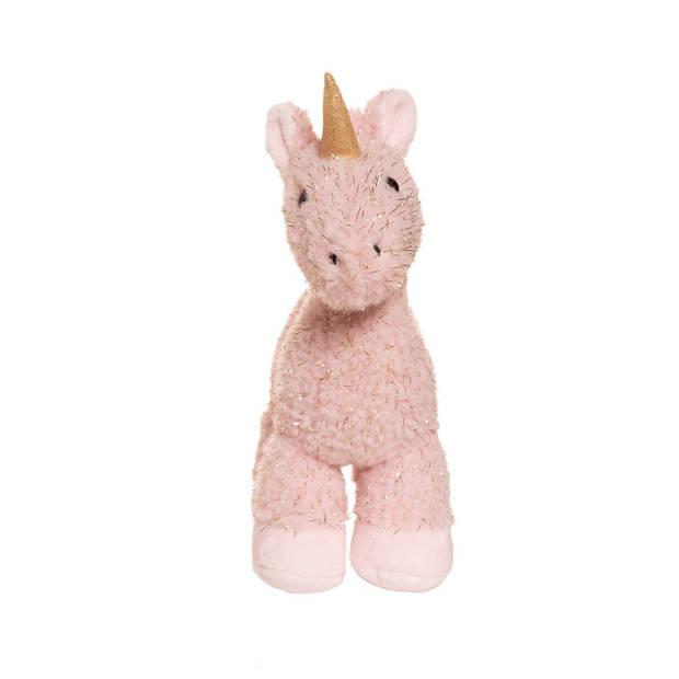 Manhattan Toy knuffel Tinsel de Eenhoorn 23 cm pluche roze
