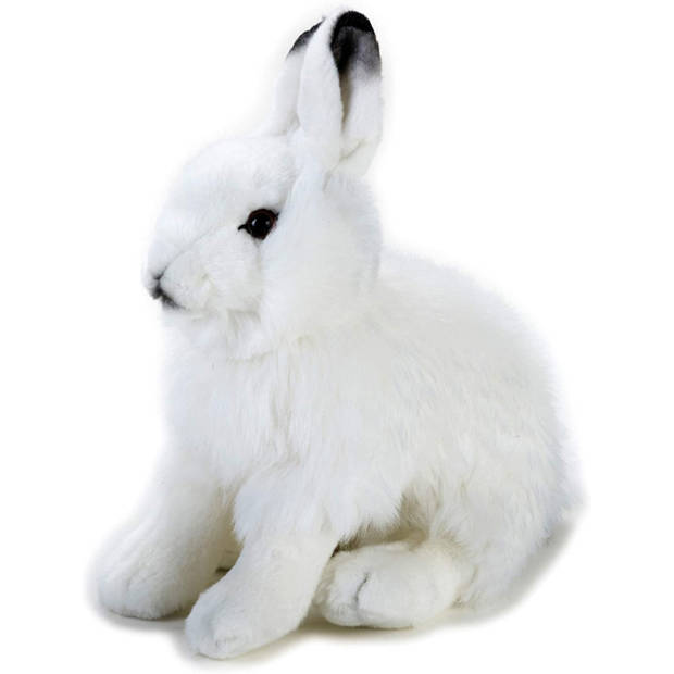 National Geographic knuffel konijn junior 24 cm pluche wit