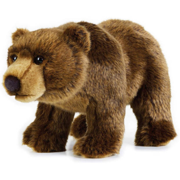 National Geographic knuffel grizzlybeer 30 cm pluche bruin