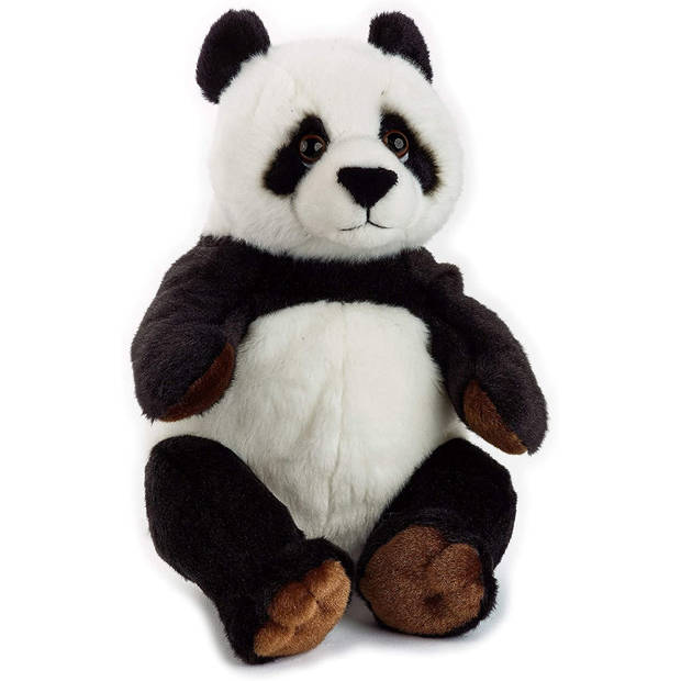 National Geographic knuffel panda junior 22 cm pluche zwart/wit