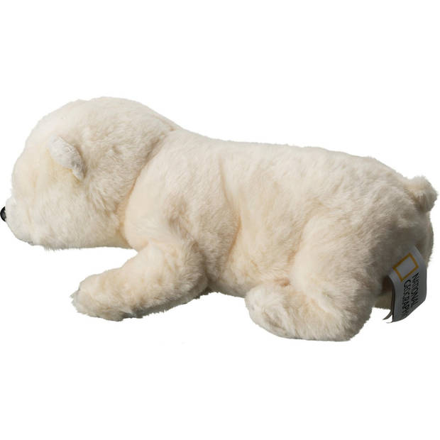 National Geographic knuffel baby ijsbeer junior 32 cm pluche wit