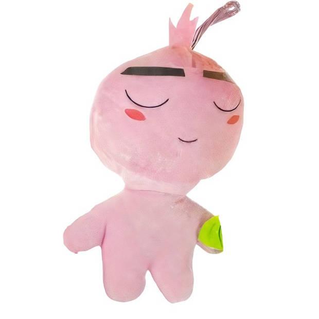 LG-Imports knuffel emotiefiguur junior 22 cm pluche roze