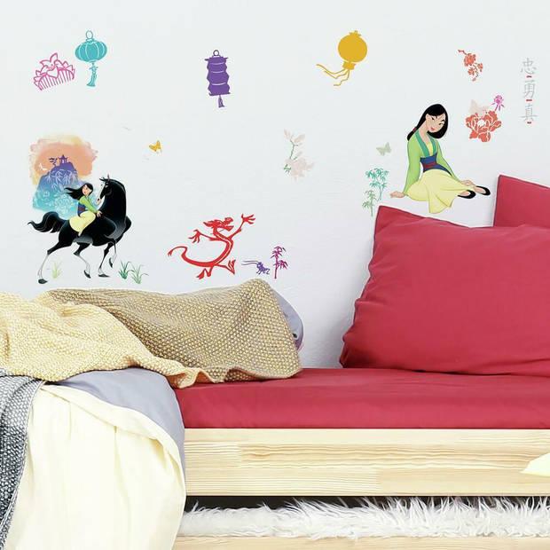 RoomMates muursticker Mulan junior 44 x 92 cm vinyl 40-delig