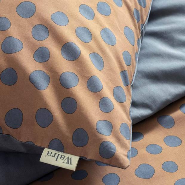 Walra Spots & Dots dekbedovertrek - 1-persoons (140x200/220 cm + 1 sloop) - Katoen - Cognac