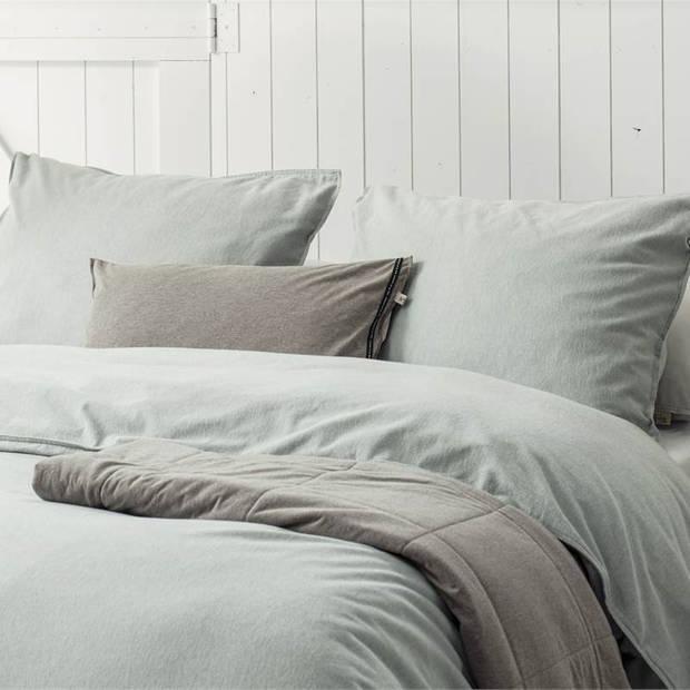Walra Vintage flanel dekbedovertrek - 1-persoons (140x200/220 cm + 1 sloop) - Flanel - Jade