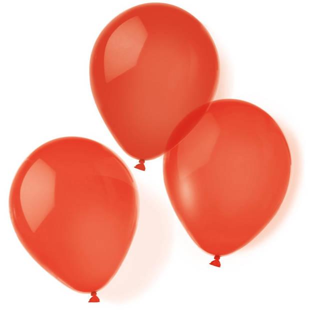 Amscan ballonnen 20,3 cm latex rood 10 stuks