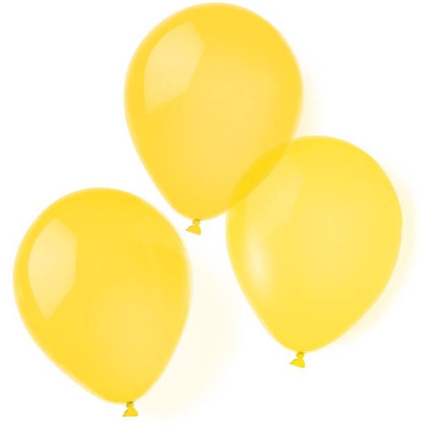 Amscan ballonnen 20,3 cm latex geel 10 stuks