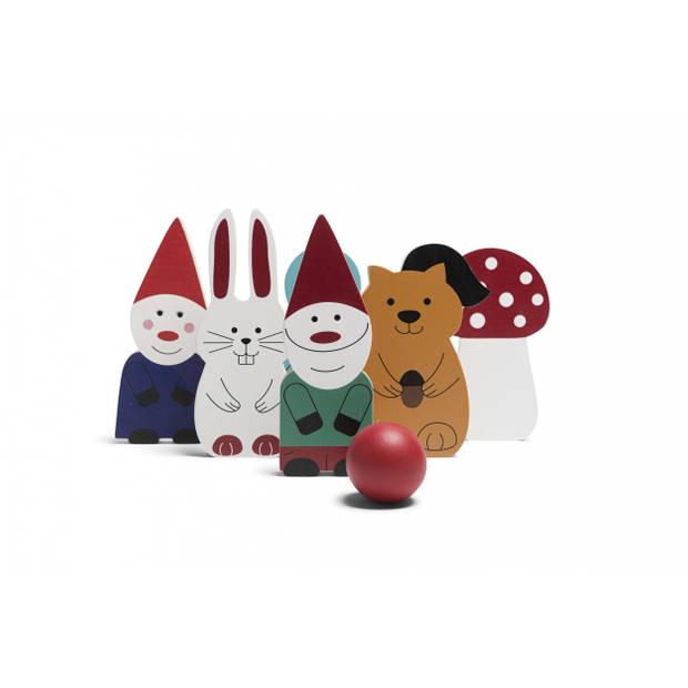 BS Toys kegelset Forest Friends hout 7-delig