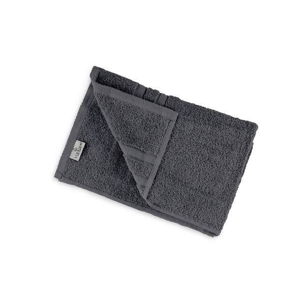 LINNICK Pure Handdoek 60x110cm - dark grey - Set van 4