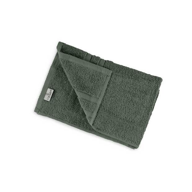 LINNICK Pure Handdoek 60x110cm - olive green - Set van 4
