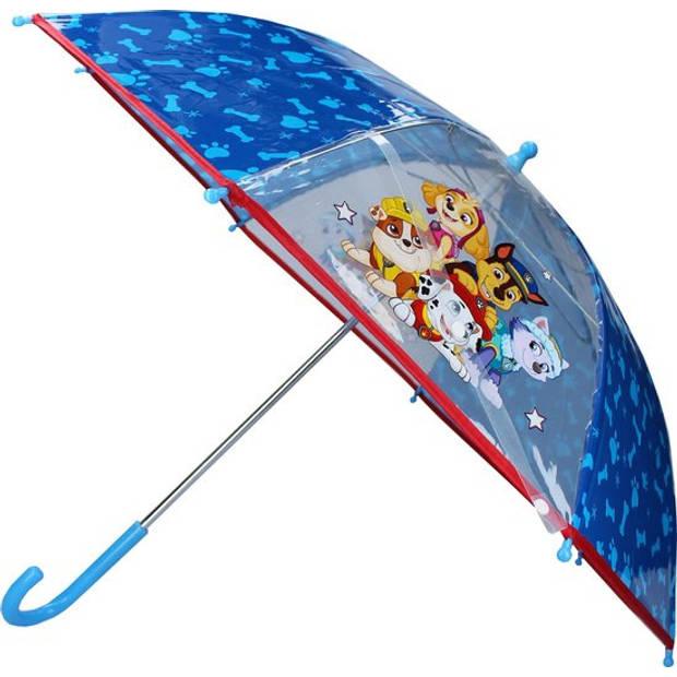 Nickelodeon kinderparaplu Paw Patrol 63 cm polyester blauw
