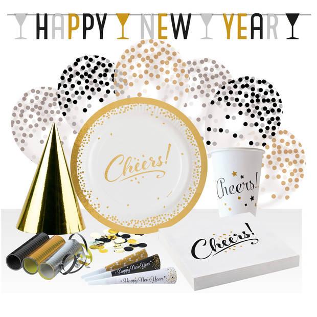 Amscan feestset nieuwjaar papier 68-delig
