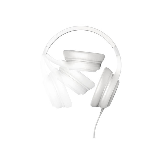 Motorola Over-Ear Koptelefoon Pulse120 - Krachtige Bassound - Opvouwbaar - Lichtgewicht - Wit