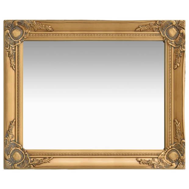 vidaXL Wandspiegel barok stijl 50x60 cm goudkleurig