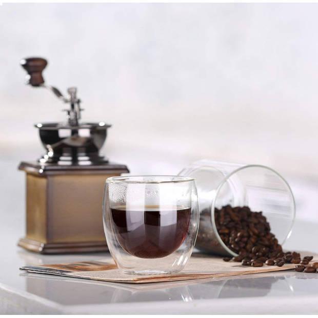 JAP Dubbelwandig Glas - Theeglazen - Koffieglazen - Vaatwasserbestendig - 250ml
