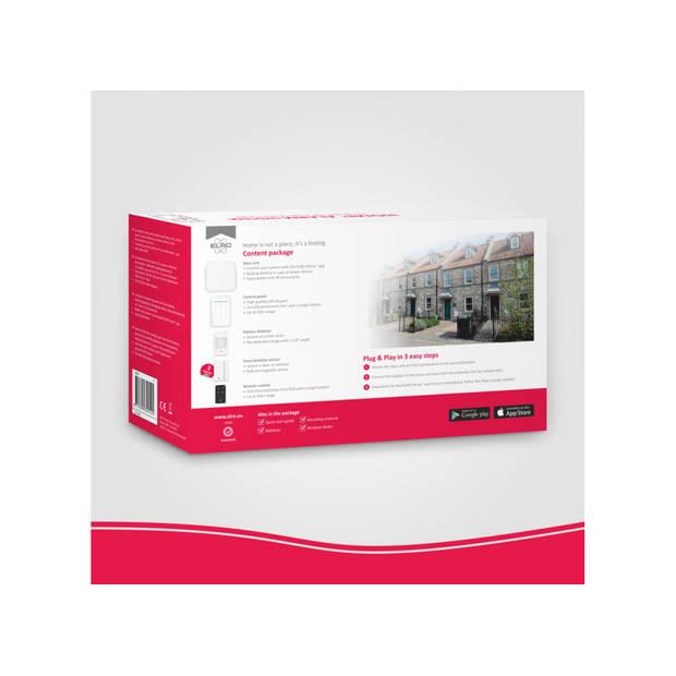 ELRO AS90S Home+ Slim Draadloos Alarmsysteem – Wifi – GSM Functie – Met App – Als Beste Getest