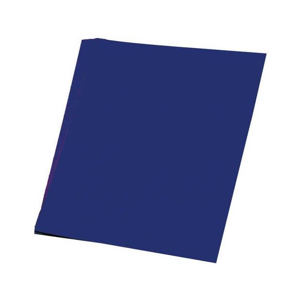 10x Donkerblauw karton vel 48 x 68 cm - Hobbykarton - Hobby/knutselmateriaal