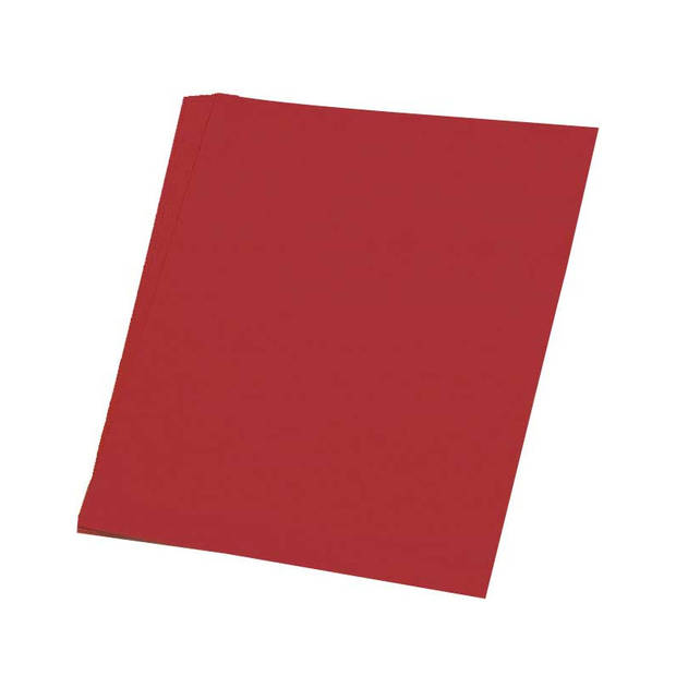 10x Karton rood 48 x 68 cm - Hobby karton - Kartonnen vellen hobby/knutselmateriaal