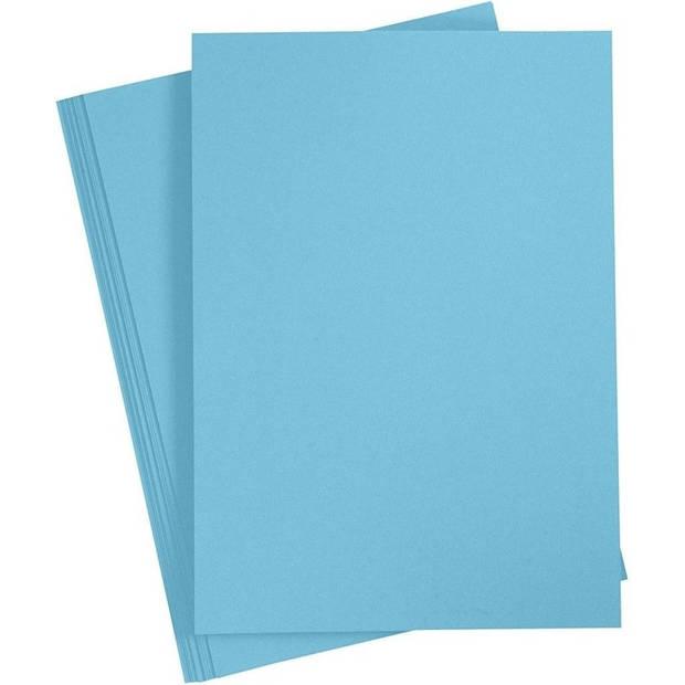10x Lichtblauw A4 vel 180 grams - hobby karton