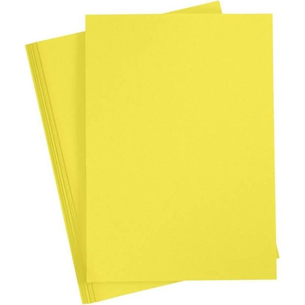 10x Geel A4 vel 180 grams - hobby karton