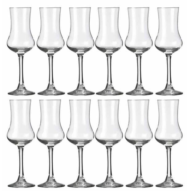 18x Likeur/borrelglazen transparant 90 ml Specials serie - 9 cl - Likeurglazen