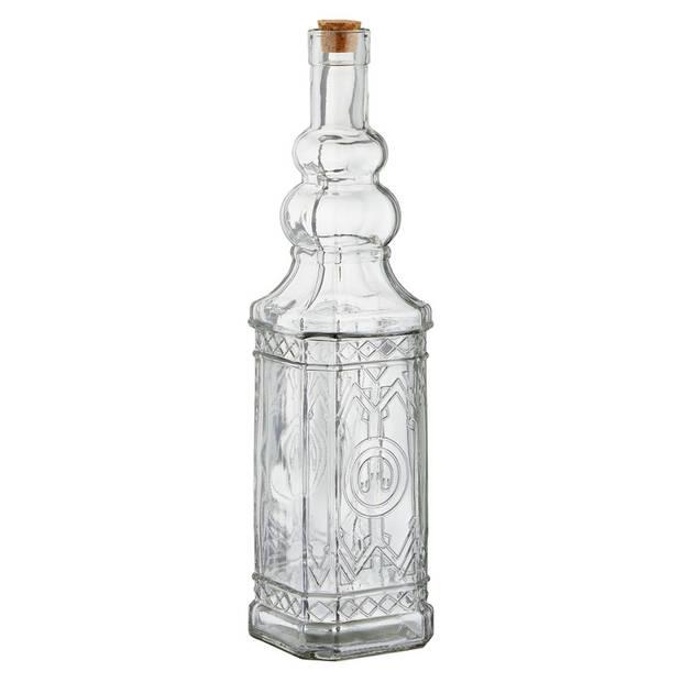 Glazen decoratie karaf met kurk 750 ml