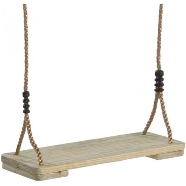 Kinder speeltoestel houten schommelzitje 39 cm - Buitenspeelgoed - Schommelen - Speeltoestel schommel