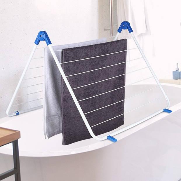 Wasrek / droogrek voor in bad 60 - 120 x 65 cm - Bad wasrekken - Wassen/kleding drogen - Droogrekken - Waslijnen