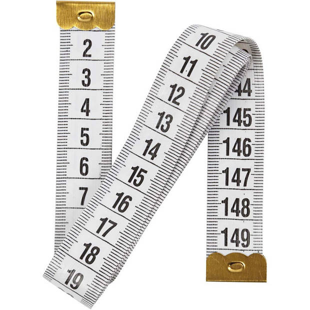 Meetlint 150 cm wit - 1,5 meter - Flexibel - Lintmeter - Naaigereedschap/naaibenodigdheden - Fournituren - Kledingmaker