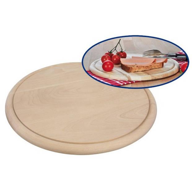 Ronde houten ham ontbijt planken / broodplank / serveer plank 28 cm - brood snijden / serveren - serveerplankjes