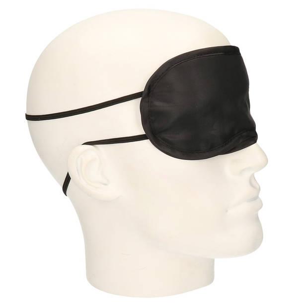 6x Wellness slaap ontspanning oogmasker zwart - Voordelige slaapmaskers