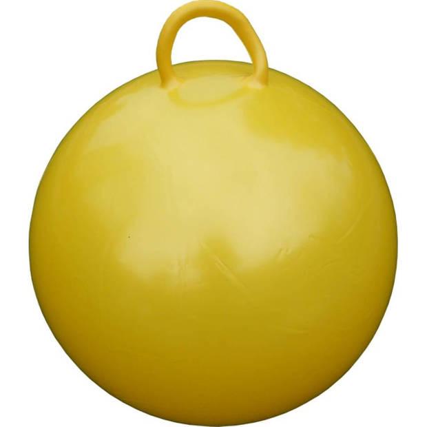 Skippybal geel 60 cm voor kinderen - Skippyballen buitenspeelgoed voor jongens/meisjes